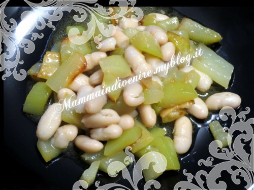 zucca lunga con fagioli ottima per la dieta