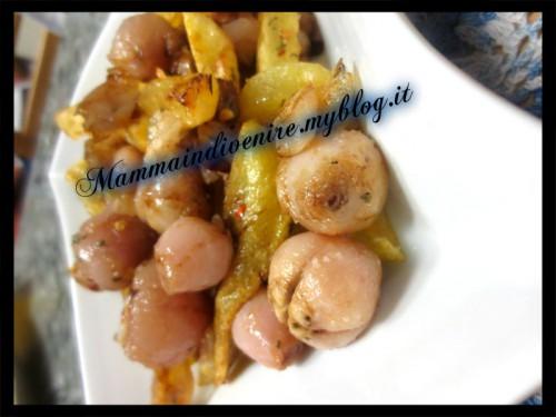 lampascioni alla calabra con piccante e gelatina di aceto balsamico