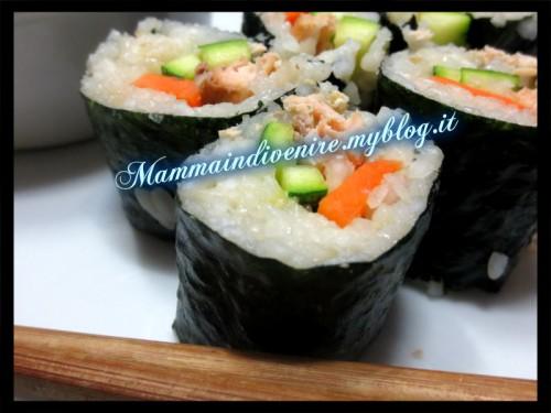 sushi in versione modificata e casalinga: esperimenti d'oriente