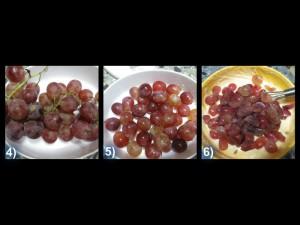 Torta all'uva con frutta ghiaccia 5