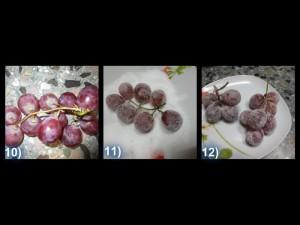 Torta all'uva con frutta ghiaccia 7